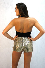 Infinity Gold Sequin Shorts by Wyldr - Cimiche