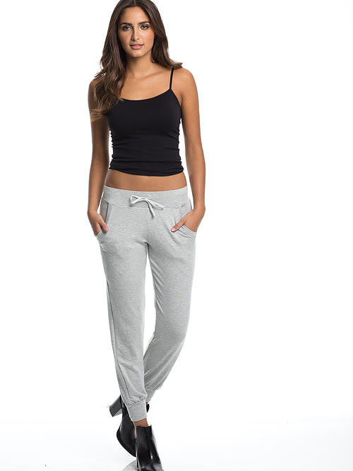 Elan Women's Jogger Style Sweatpants Light Grey - Cimiche