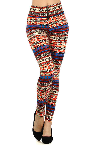 LA 12ST -  Multicolor Leggings with Zipper Front - Cimiche