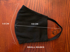 Black - 100% Cotton Masks