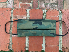 Camo Print - 100% Cotton Pleated Masks