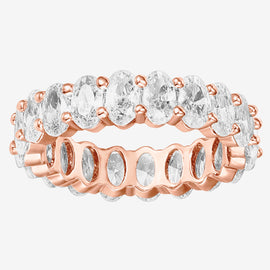 Gold Rings for Women Round Milgrain Eternity Bands PAVOI 14K Gold Plated Sterling Silver Rings Cubic Zirconia Band