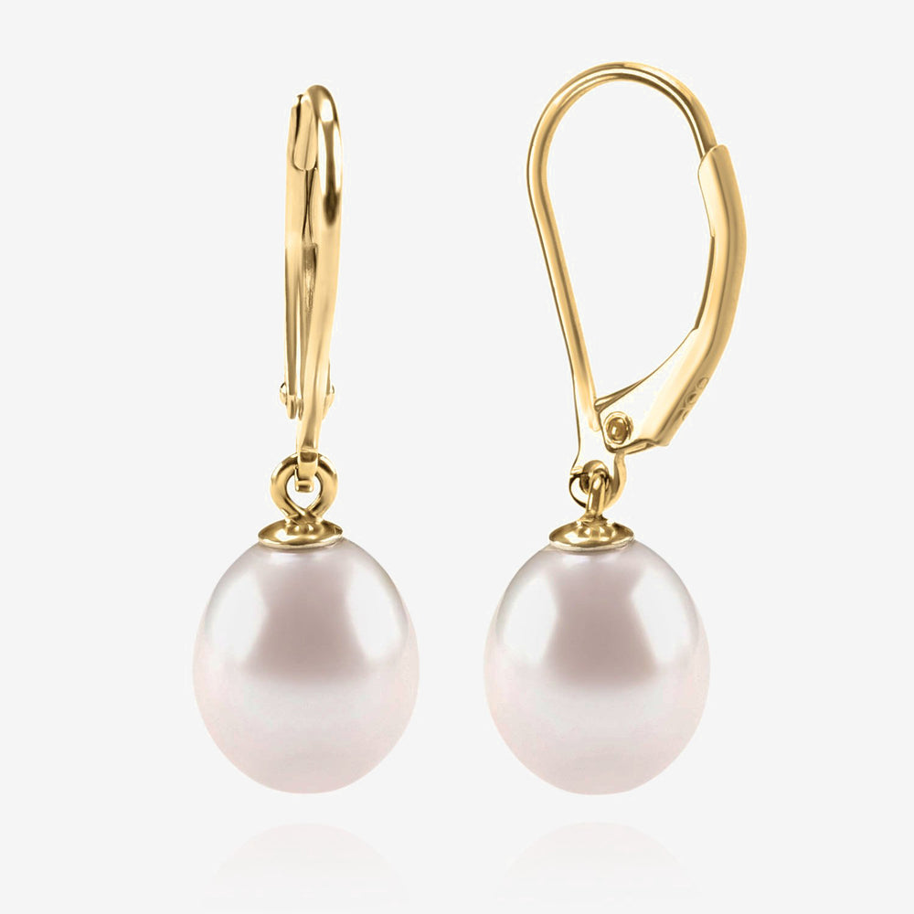 Freshwater Cultured Pearl Leverback Earrings