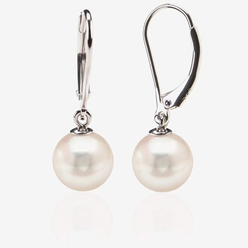Shell Pearl Dangle Earrings