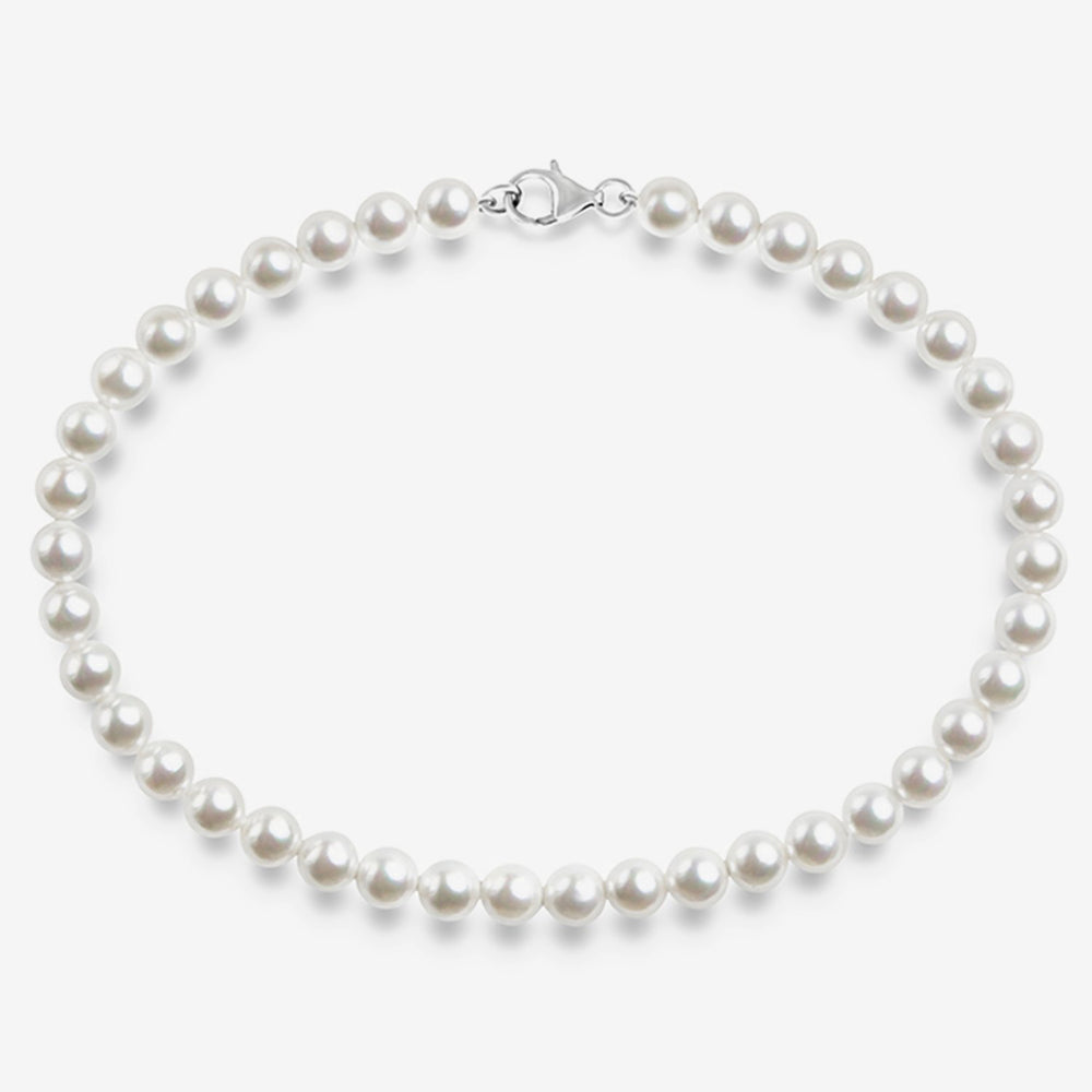 Simulated Shell Pearl Necklace