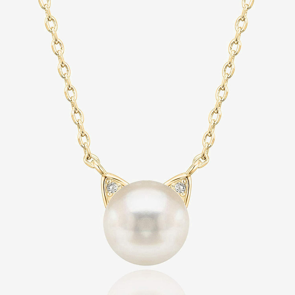 Freshwater Cultured Cat Pearl Necklace