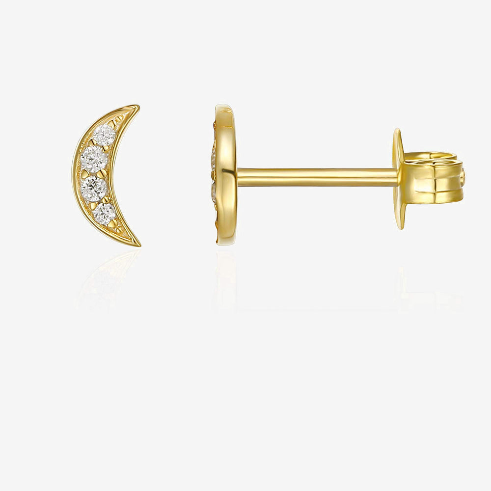 CZ Moon Earrings