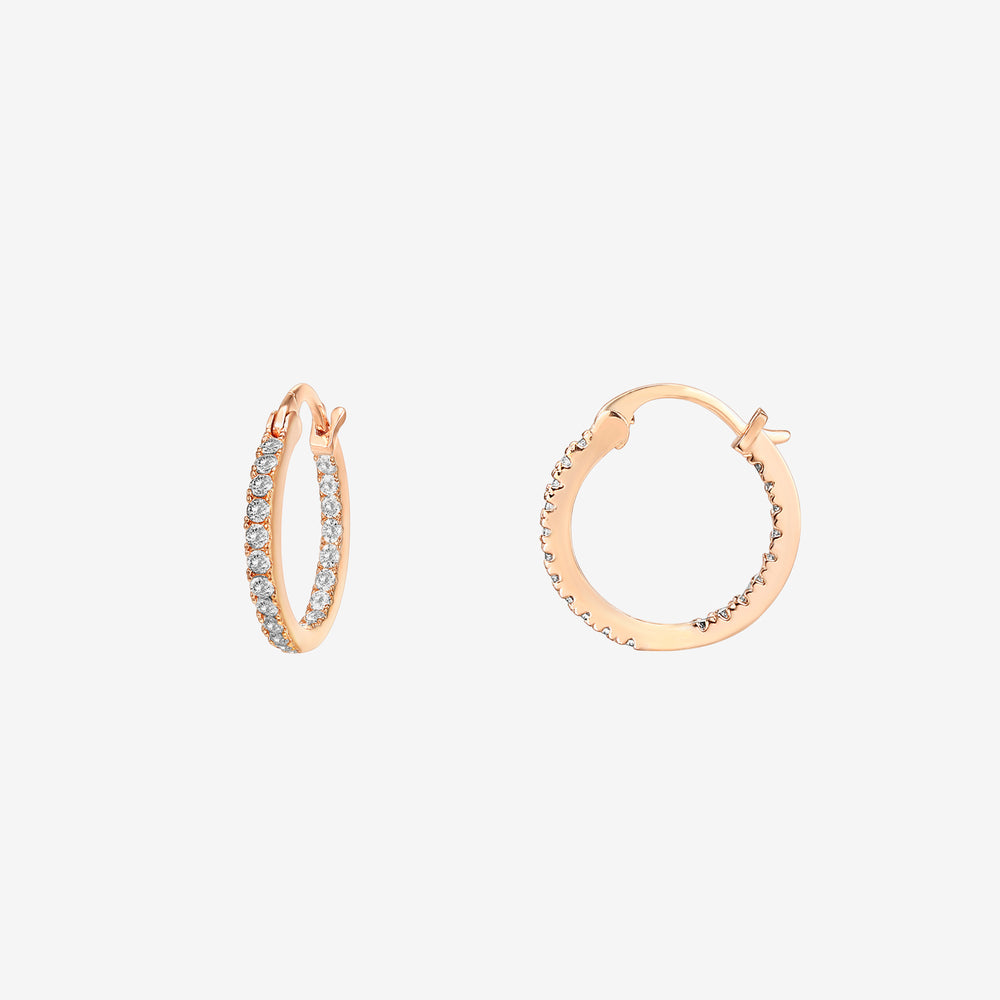Inside-Out CZ 15mm Hoop Earrings