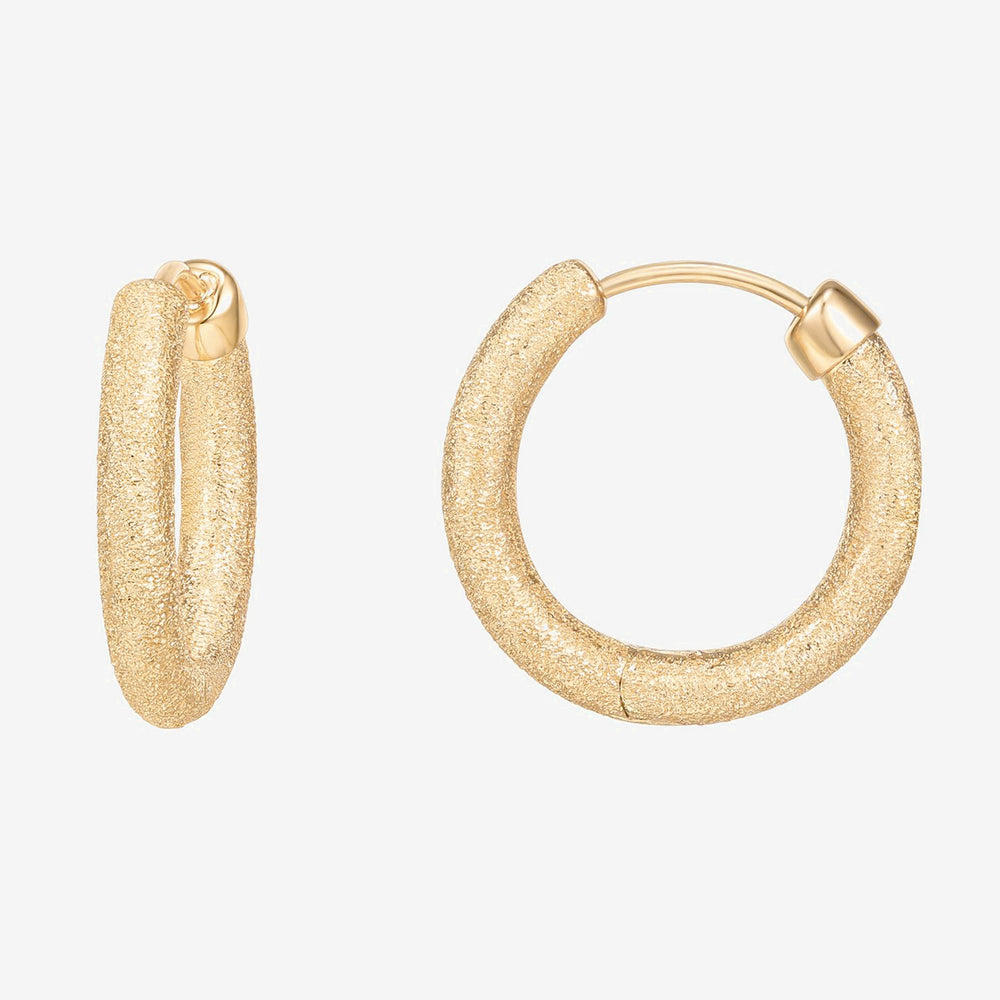Lightweight Textured Hoop Earrings
