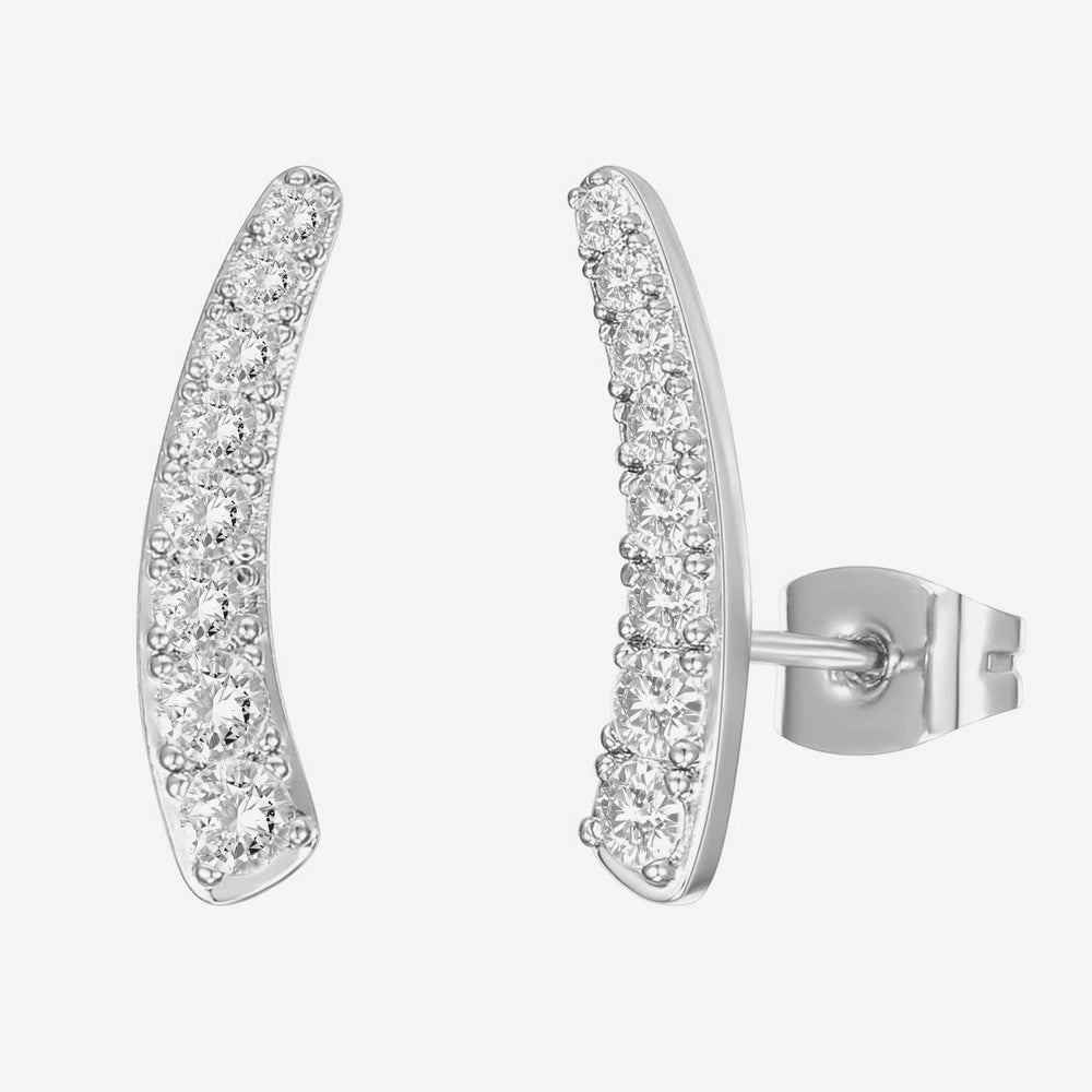 Thick CZ Crawler Earring