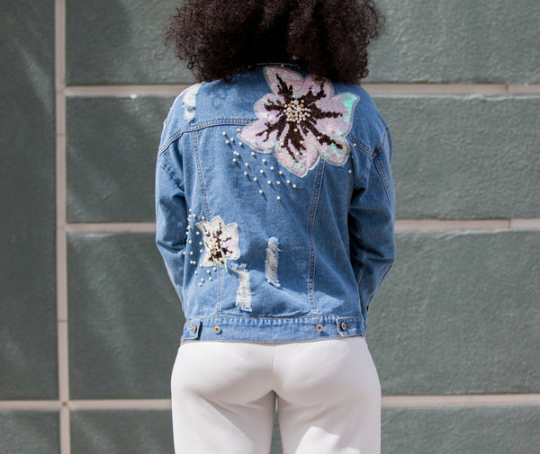 Floral Daze Denim Jacket