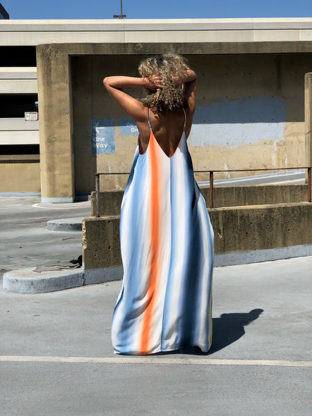 Good Vibrations Maxi Dress (Blue)