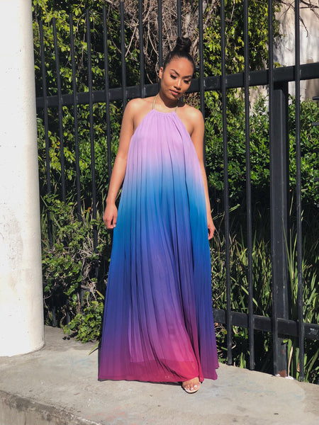 Ombré Maxi Dress (Blue)