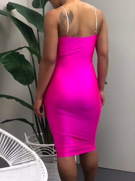 Thank You Next Dress (fuchsia)