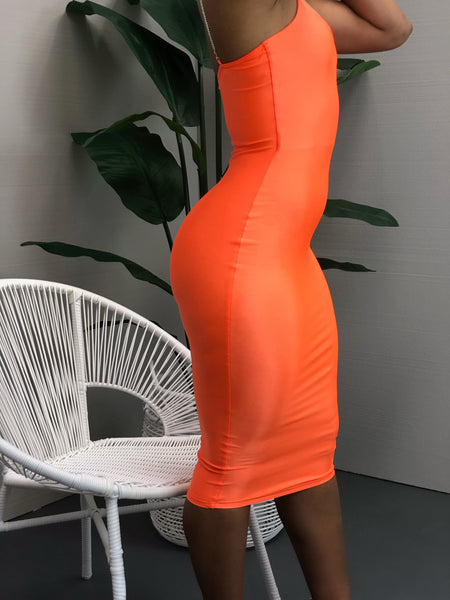 Thank You Next Dress (orange)
