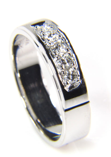 Custom Diamond Platinum Wedding Band
