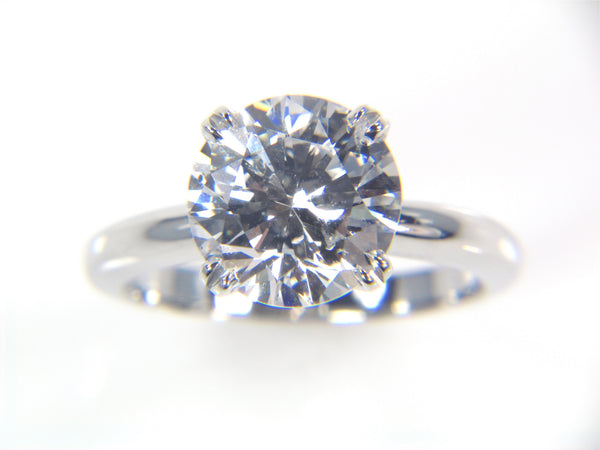 Solitaire Diamond Platinum Engagement Ring
