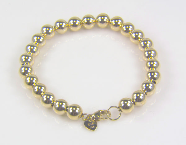 Sterling Silver or Gold Tiffany Style Ball Bracelets