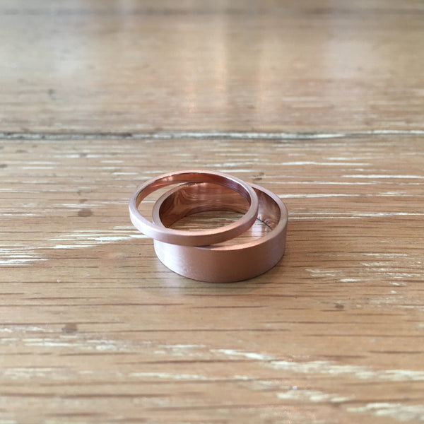 Custom Rose Gold Wedding Bands