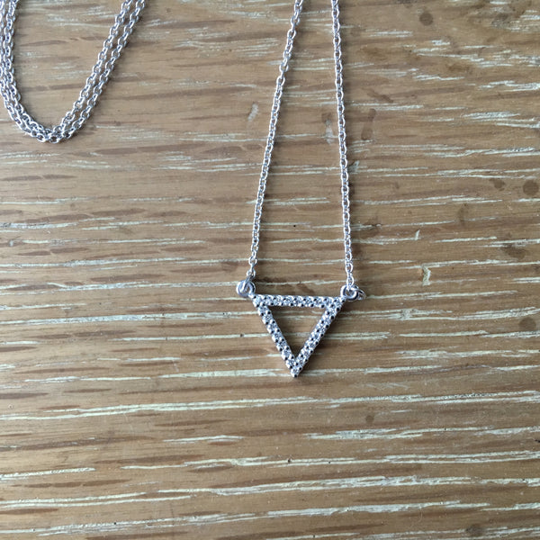 Custom Diamond Triangle Pendant