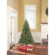 Holiday Time Pre-Lit 6.5' Madison Pine Green Artificial Christmas Tree, Multi Lights