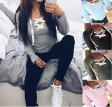 2016 New Autumn Women Fashion Hoodies Sweatshirts Long Sleeve V-neck Bandage Hoodies Shirts Casual Sexy Women Tops GV371