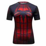 2016 miracle spider-man/captain America women T-shirt compressed T-shirt women fitness tight t-shirts woman coat