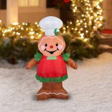 Gemmy Airblown Christmas Inflatables Gingerbread, 3.5'