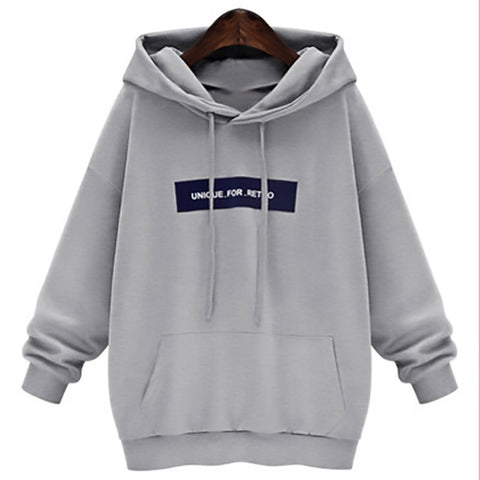 High Quality Women's Casual Hoodies Letter Print Unique for Retro New Fashion Design Sport Sweatershirt
