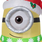Gemmy Airblown Christmas Inflatables Carl with Scarf, 4.5' Tall