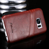 Retro Leather 2016 Luxury Cell Phones Case For Samsung Galaxy S7 Back Cover For Galaxy S7 Capa Leather Cases Accessories