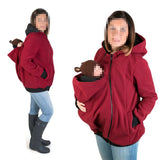 Fashion Maternity Women Hoodies Sweatshirts Zipper Solid Baby Carrier Jacket Winter Cotton Pregnant Kangaroo Coat Babywearing