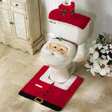 Latest 3Pc/Set Christmas Santa Claus Bathroom Toilet Seats Cover Christmas Decoration