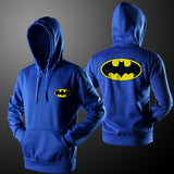 Men Hoodie Sweatshirt 2016 New Casual Solid Long Sleeve Casual Loose Men Pullover hooded Batman Tops Clothing B1611 Z10