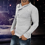 Men's Fashion Slim Fit Casual  Polo Shirt Long Sleeve Tee Tops Blouse