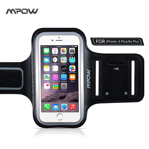 Waterproof Workout Case for Apple iphone 6 Plus Holder+Key Slot Casual Sport Accessories Armband with Adjustable Size