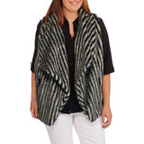 Studio Women's Plus-Size Textured Faux Fur Vest
