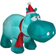 Gemmy Airblown Christmas Inflatables Snowflakes Hippo, 4'