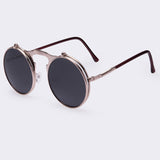 VINTAGE STEAMPUNK Sunglasses round Designer steam punk Metal OCULOS de sol women COATING SUNGLASSES Men Retro CIRCLE SUN GLASSES