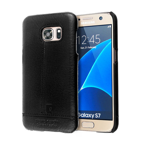 Fashion Retro For Samsung Galaxy S7 Genuine Leather Back Cover Case For Samsung S7 Cover Case Pierre Cardin Cell Phone Case Back