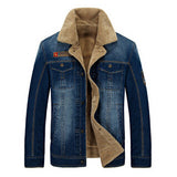 New arrival AFS JEEP Men's Winter Denim Jacket 2016 Casual Denim  Jacket Fashion Men's Fall Winter Outwear Coat   178