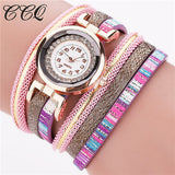 CCQ Fashion Bohemian Leather Bracelet Watches Watched Women Casual Wrist Watch Quartz Watch Relojes Mujer Gift C47