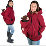 Multifunctional Maternity+Baby+Hoodies 2016 Baby Carrier Jacket Casual Winter Zipper Coat For Pregant Women Thickened Hoodies