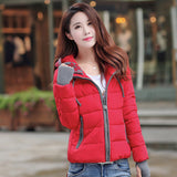 winter jacket women 2016 fashion slim short cotton-padded Hooded jacket parka female wadded jacket outerwear winter coat women
