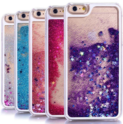 Shining Slide Quicksand Case Cover for iPhone 7 7 plus iPhone se 5s 6 6s Plus + Gift Box