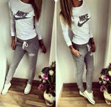 Fashion Letter Long Sleeve Shirt Sweater Pants Sweatpants Set Two-Piece Sportswear