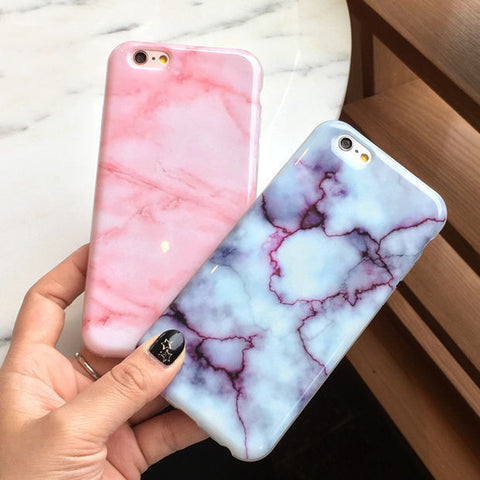 Unique Marble Pink iPhone 7 7 Plus 5 5S SE 6 6s Plus Case Gift + Free Gift Box