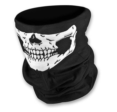 Skull Bandana Cycling Motorcycle Helmet Neck Face Mask Paintball headband