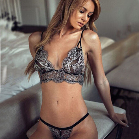 Hot Deal Cute On Sale Lace Bra Sexy Hollow Out Set Exotic Lingerie