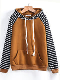 Stripes Hats Women's Fashion Winter Hoodies